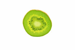 Kiwifruit slice isolated on a white background. Stock Photos