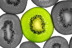 Kiwifruit slice isolation Royalty Free Stock Photography