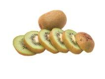 Kiwifruit. Sliced kiwifruit and complate kiwi fruit Royalty Free Stock Photos