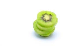 Kiwifruit on white background. Kiwifruit pieace on white background Stock Photos