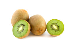 Kiwifruits. Pile of kiwifruits isolated on white background Royalty Free Stock Photography