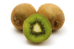 Kiwifruits. On a white background Stock Images