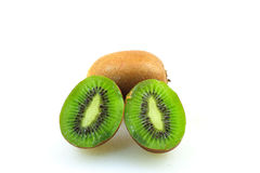 Kiwifruits. Isolated on white background Royalty Free Stock Photos