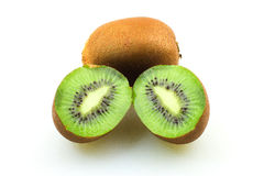 Kiwifruits. Over white background isolated Stock Images