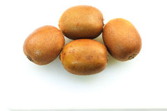 Kiwifruits. Over white background isolated Royalty Free Stock Image
