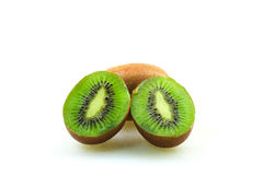 Kiwifruits. Over white background isolated Royalty Free Stock Photography