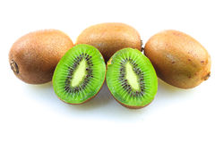 Kiwifruits. Over white background isolated Stock Image