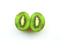 Kiwifruits. Over white background isolated Royalty Free Stock Photo