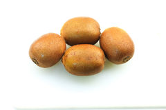 Kiwifruits. Over white background isolated Royalty Free Stock Images
