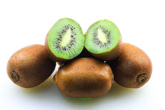 Kiwifruits. Over white background isolated Stock Photo