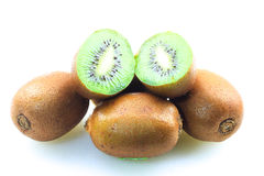 Kiwifruits. Over white background isolated Royalty Free Stock Photos
