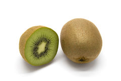Kiwifruits on white background. Kiwifruits on white isolated background Royalty Free Stock Photography