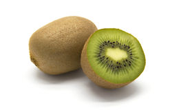 Kiwifruits on white background. Kiwifruits on white isolated background Royalty Free Stock Image
