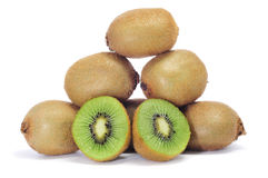 Kiwis. Some kiwis on a white background stock images