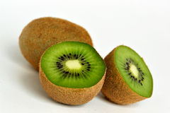 Kiwis. On white background stock photos