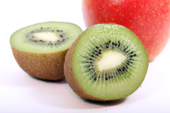 Kiwis and apple Stock Photo