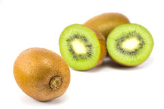 Kiwis d'isolement sur le fond blanc Photos stock