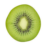 Kiwis en coupe d'isolement sur le fond blanc, coupant photographie stock