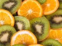 Kiwis et oranges Photo stock