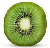 Kiwis frais coupés dans la moitié Images stock