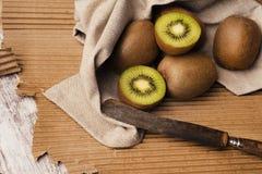 Free Kiwis In Brown Table Stock Image - 114342161