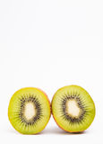Kiwis isolated on white background with copyspace above Stock Photography