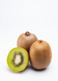 Kiwis isolated on white background. In a studio shot royalty free stock image