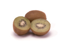 Kiwis. Kiwi cold delicious green on a white background royalty free stock image