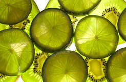 Kiwis and limes Royalty Free Stock Images