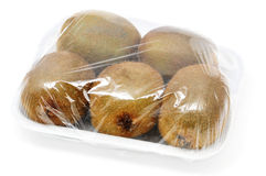 Kiwis pack. A kiwis pack isolated on a white background royalty free stock photos