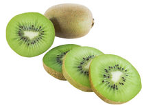 Kiwis in slices. Ripe juicy kiwis in slices stock photography
