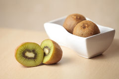 Kiwis on a table Stock Image