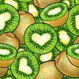 Kiwis verts Dessin d'animation de griffonnage de kiwi Configuration sans joint pour la conception Image libre de droits