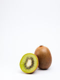 Kiwis on white background with copyspace above Royalty Free Stock Photo