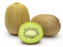 Kiwis in a white background. Royalty Free Stock Image
