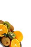 Kiwis y naranja de la vitamina C Foto de archivo libre de regalías