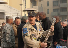 Kix Brooks with the Troops Royalty Free Stock Photo