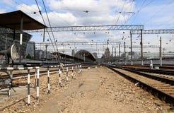 Kiyevskaya railway station  (Kiyevsky railway terminal,  Kievskiy vokzal) -- Moscow, Russia Stock Photos