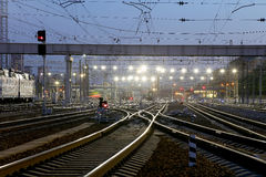 Kiyevskaya railway station  (Kiyevsky railway terminal,  Kievskiy vokzal) -- Moscow, Russia Stock Photography