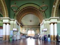 Kiyevskaya railway station  (Kiyevsky railway terminal,  Kievskiy vokzal) -- Moscow, Russia Royalty Free Stock Images