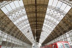 Kiyevskaya railway station  (Kiyevsky railway terminal,  Kievskiy vokzal) -- Moscow, Russia Stock Images