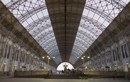 Kiyevskaya railway station  Kiyevsky railway terminal,  Kievskiy vokzal -- Moscow, Russia Royalty Free Stock Photography