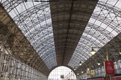 Kiyevskaya railway station  Kiyevsky railway terminal,  Kievskiy vokzal -- Moscow, Russia Royalty Free Stock Image