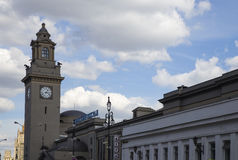 Kiyevskaya railway station  Kiyevsky railway terminal,  Kievskiy vokzal -- Moscow, Russia Stock Photography