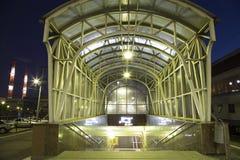 Kiyevskaya railway station  Kiyevsky railway terminal,  Kievskiy vokzal at night --Moscow, Russia Royalty Free Stock Photography