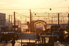 Kiyevsky铁路终端 库存照片