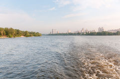 Kiyiv, Ukraine. The north part from the Dnipro river Royalty Free Stock Photography