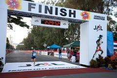 Kiyoko Shimahara bei Honolulu-Marathon 2009 Lizenzfreie Stockbilder