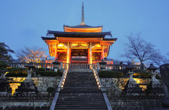 Kiyomezudare temple. In kyoto Japan royalty free stock image