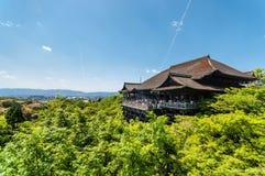 Kiyomisu-dera. With clear sky Stock Image